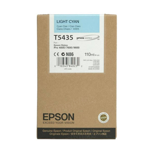 Epson T543500 Light Cyan OEM Ink Cartridge