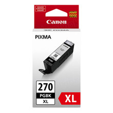Canon 0319C001 (PGI-270XL) Black High Yield Ink Cartridge, OEM