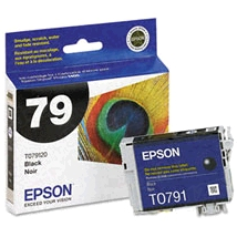 Original Epson 79 Black Inkjet Cartridge (T079120), High-Capacity