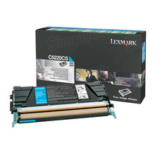 Lexmark OEM Cyan Return Program Laser Toner Cartridge, C5220CS (C520/C530 Series) (3K Page Yield)