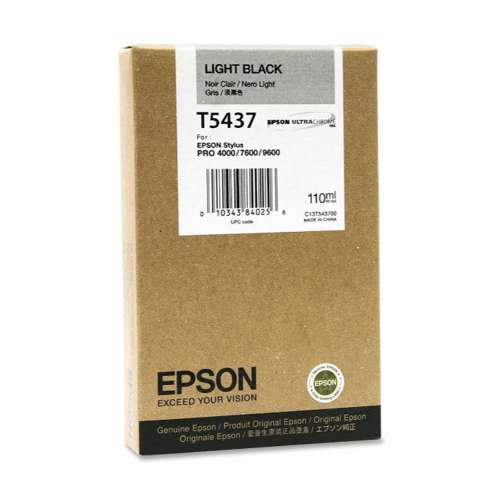Epson T543700 Light Black OEM Ink Cartridge