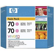 Original HP 70 Light Magenta Ink Cartridge 2-Pack in Retail Packaging (CB346A) High-Yield