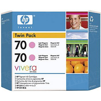 HP 70 Light Magenta Original Ink Cartridge 2PK CB346A