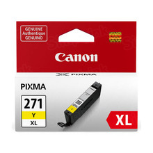 Canon 0339C001 (CLI-271XL) Yellow High Yield Ink Cartridge, OEM