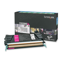 Lexmark OEM Magenta Return Program Laser Toner Cartridge, C5220MS (C520/C530 Series) (3K Page Yield)