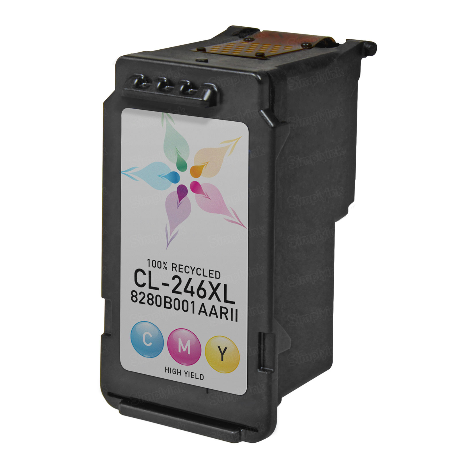 Canon CL-246XL) Color HY Ink Cartridge, Remanufactured