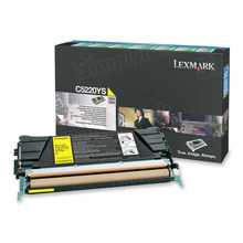 Lexmark OEM Yellow Return Program Laser Toner Cartridge, C5220YS (C520/C530 Series) (3K Page Yield)