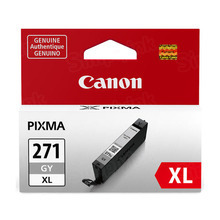 Canon 0340C001 (CLI-271XL) Gray High Yield Ink Cartridge, OEM