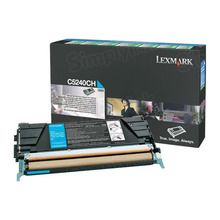 Lexmark OEM High Yield Cyan Return Program Laser Toner Cartridge, C5240CH (C524/C532/C534 Series) (5K Page Yield)
