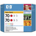 HP 70 Red Original Ink Cartridge 2PK CB347A