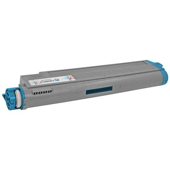 Remanufactured Cyan Toner Cartridge for Okidata