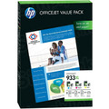 HP CR711AE OfficeJet Value Pack - 1 Each of HP 933XL CMY and 75 Sheets of Paper