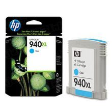 Original HP 940XL Cyan Ink Cartridge in Retail Packaging (C4907AN) High-Yield