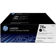 HP 78A (CE278D) Black Original Toner Cartridge in Retail Packaging - Dual Pack