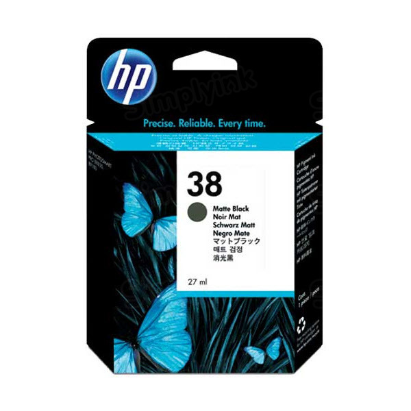 HP 38 Matte Black Original Ink Cartridge C9412A