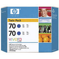 HP 70 Blue Original Ink Cartridge 2PK CB349A