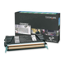 Lexmark OEM High Yield Black Return Program Laser Toner Cartridge, C5240KH (C524/C532/C534 Series) (8K Page Yield)