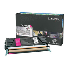 Lexmark OEM High Yield Magenta Return Program Laser Toner Cartridge, C5240MH (C524/C532/C534 Series) (5K Page Yield)