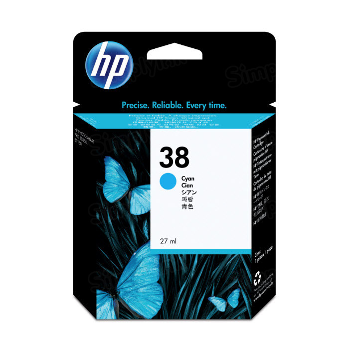 HP 38 Cyan Original Ink Cartridge C9415A