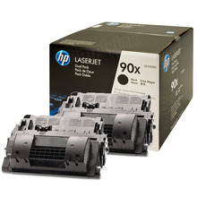 HP 90X (CE390XD) Black Original Toner Cartridge in Retail Packaging - Dual Pack