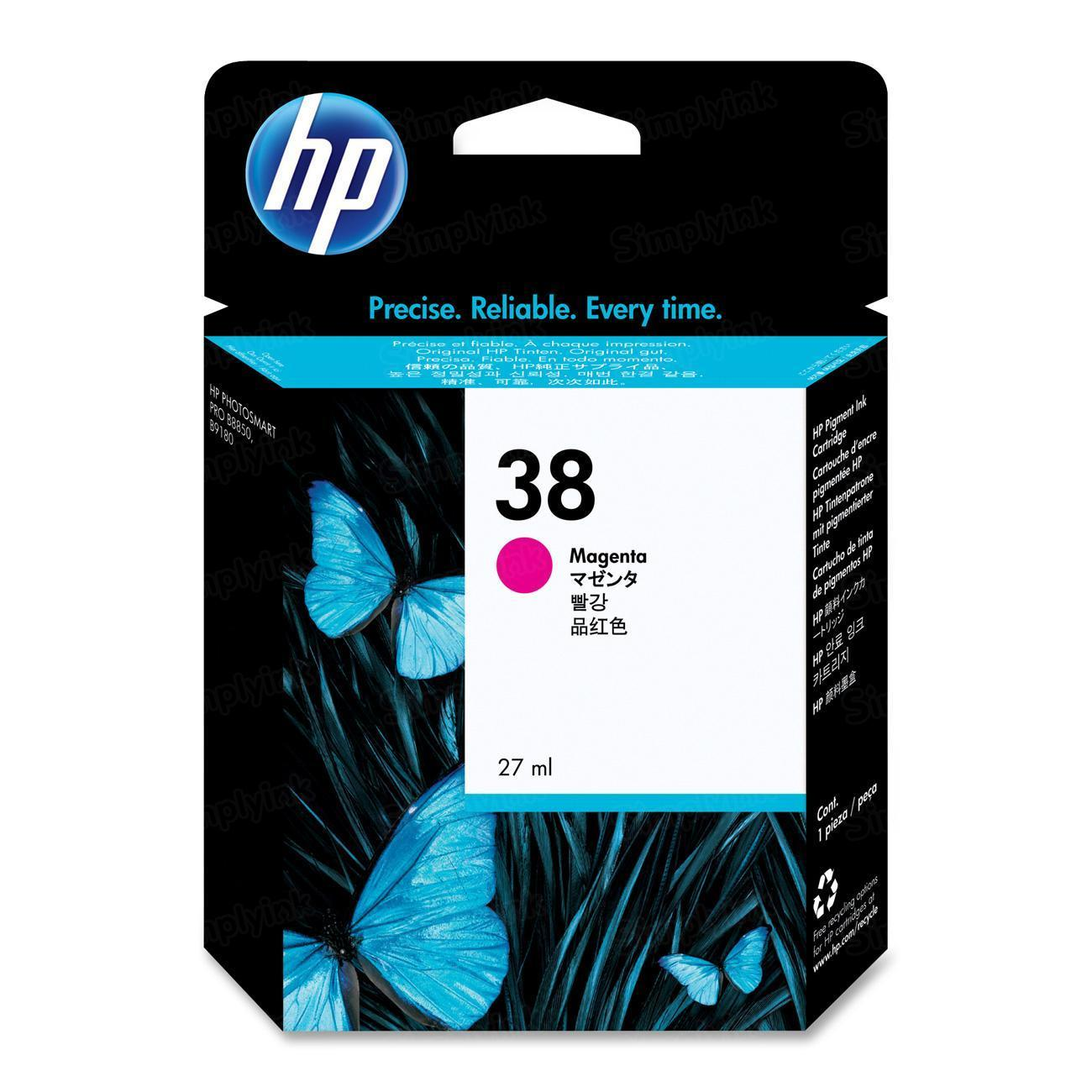 HP 38 Magenta Original Ink Cartridge C9416A