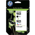 Original HP 901 Black and TriColor Ink Pack CN069FN