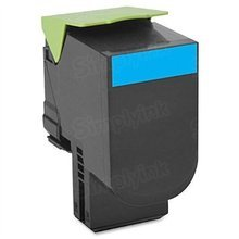 Lexmark OEM Cyan Return Program Laser Toner Cartridge, 80C1SC0 (CX310/CX410/CX510 Series) (2K Page Yield)