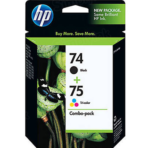 Original HP 74 Black and 75 TriColor Ink Pack CC659FN