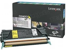 Lexmark OEM Extra High Yield Yellow Return Program Laser Toner Cartridge, C5340YX (C534 Series) (7K Page Yield)