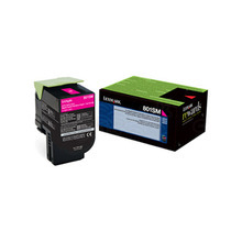 Lexmark OEM Magenta Return Program Laser Toner Cartridge, 80C1SM0 (2K Page Yield)