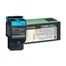 Lexmark OEM Cyan Return Program Laser Toner Cartridge, C540A1CG (7K Page Yield)