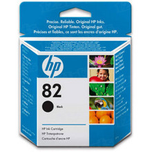 Original HP 82 Black Ink Cartridge in Retail Packaging (CH565A)
