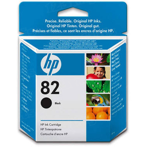 HP 82 Black Original Ink Cartridge CH565A