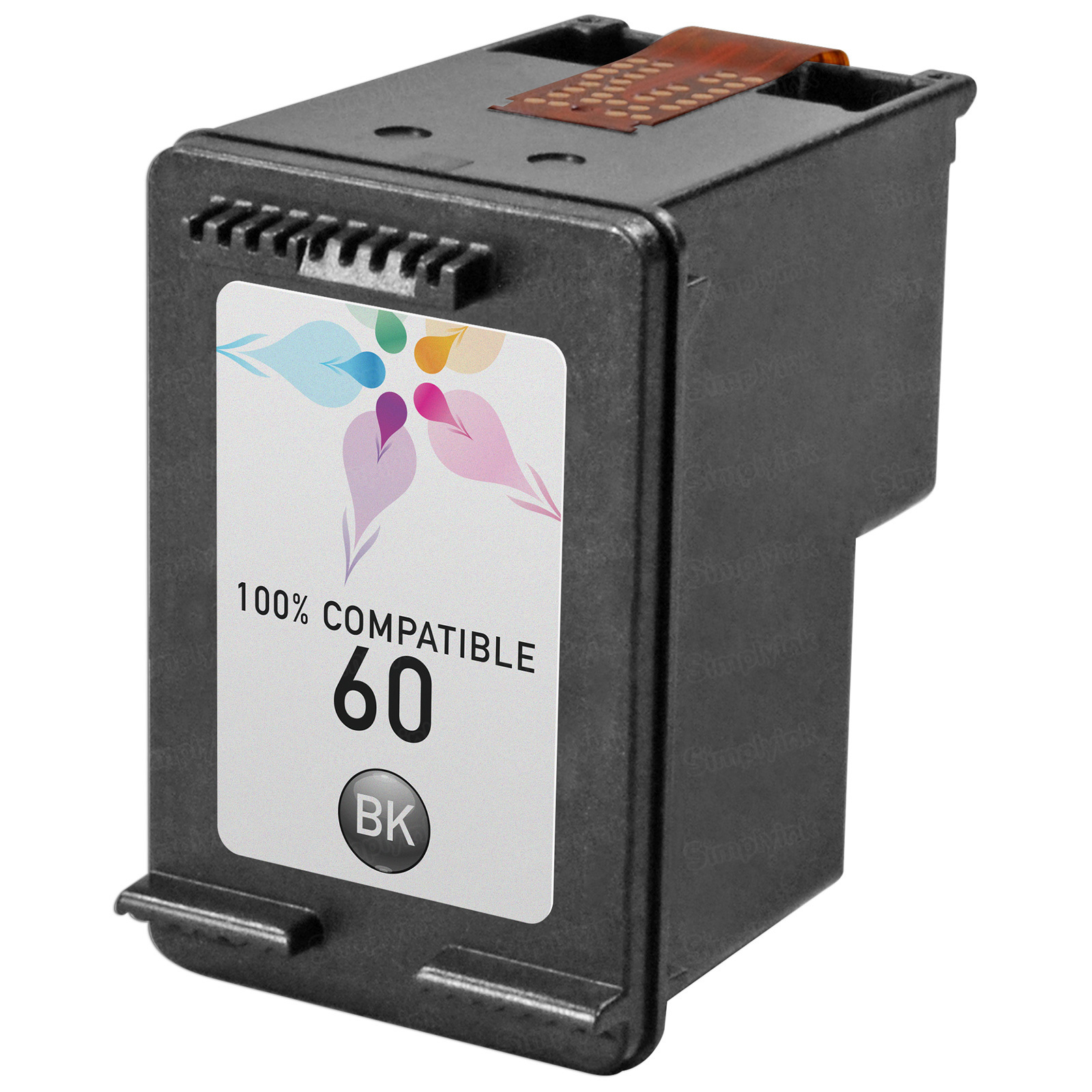 Remanufactured Replacement Black Ink for HP 60
