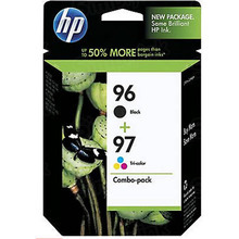 Original HP 96 Black and 97 TriColor Combo Ink Pack in Retail Packaging, (C9353FN)