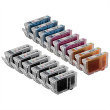 Compatible Canon Bulk Set of 15 BCI3e Ink Cartridges (6 Black (BCI3eBk), 3 Cyan (BCI3eC), 3 Magenta (BCI3eM), 3 Yellow (BCI3eY))