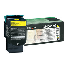 Lexmark Original Yellow Return Program Laser Toner Cartridge, C540A1YG