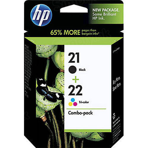 Original HP 21 Black and 22 TriColor Ink Pack C9509FN