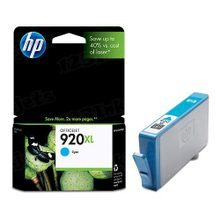 Original HP 920XL Cyan Ink Cartridge in Retail Packaging (CD972AN) High-Yield