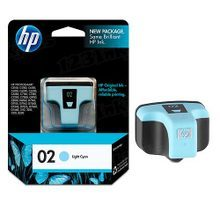 Original HP 02 Light Cyan Ink Cartridge in Retail Packaging (C8774WN)