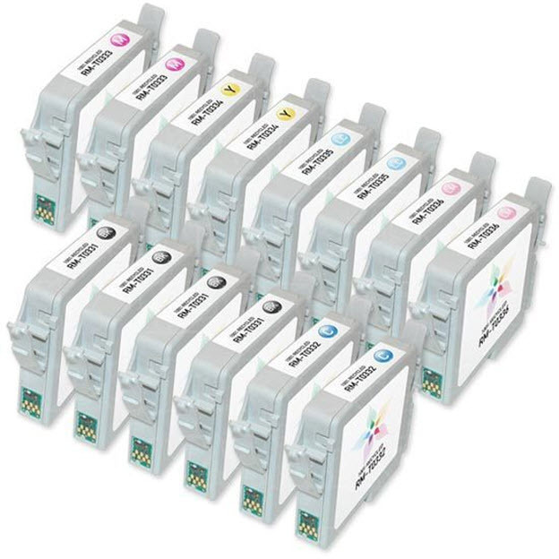 Remanufactured Epson T033 Set of 14 Inkjet Cartridges - Great Deal!