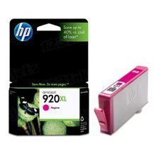 Original HP 920XL Magenta Ink Cartridge in Retail Packaging (CD973AN) High-Yield
