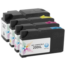 Compatible 4 Pack for Lexmark 200XL: 1 Black, Cyan, Magenta, Yellow
