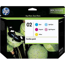 Original HP 02 C/M/Y/LC/LM Ink Cartridge Combo Pack in Retail Packaging, (CC604FN)