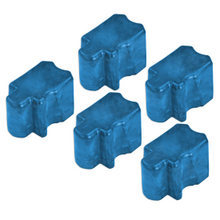 Compatible Xerox Set of 5 (Cyan) 016-2045-00 Solid Ink Blocks for the Phaser 8200