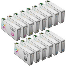 Remanufactured Epson Bulk Set of 14 Ink Cartridges 4 Black T559120 and 2 each of: Cyan T559220, Magenta T559320, Yellow T559420, Light Cyan T559520 and Light Magenta T559620