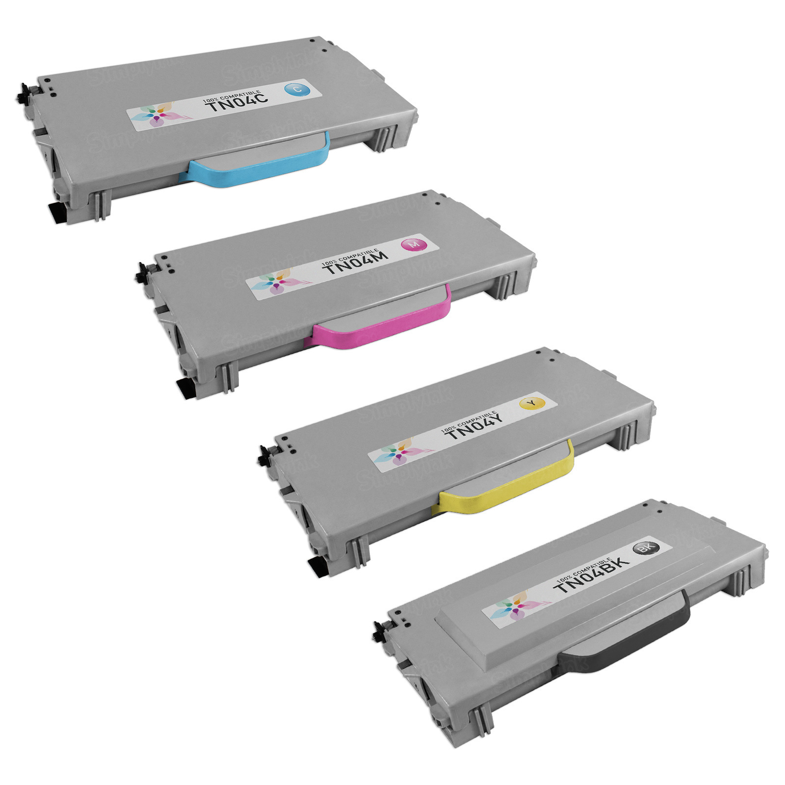 Remanufactured Brother TN04 Set Of 4 Laser Toners: Bk, C, M & Y