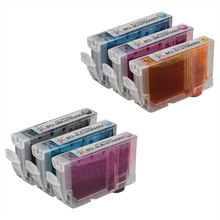 Inkjet Supplies for Canon Printers - Compatible Bulk Set of 6 BCI6 Ink Cartridges 1 each of: Black (BCI6Bk), Cyan (BCI6C), Magenta (BCI6M), Yellow (BCI6Y), Photo Cyan (BCI6PC) and Photo Magenta (BCI6PM))