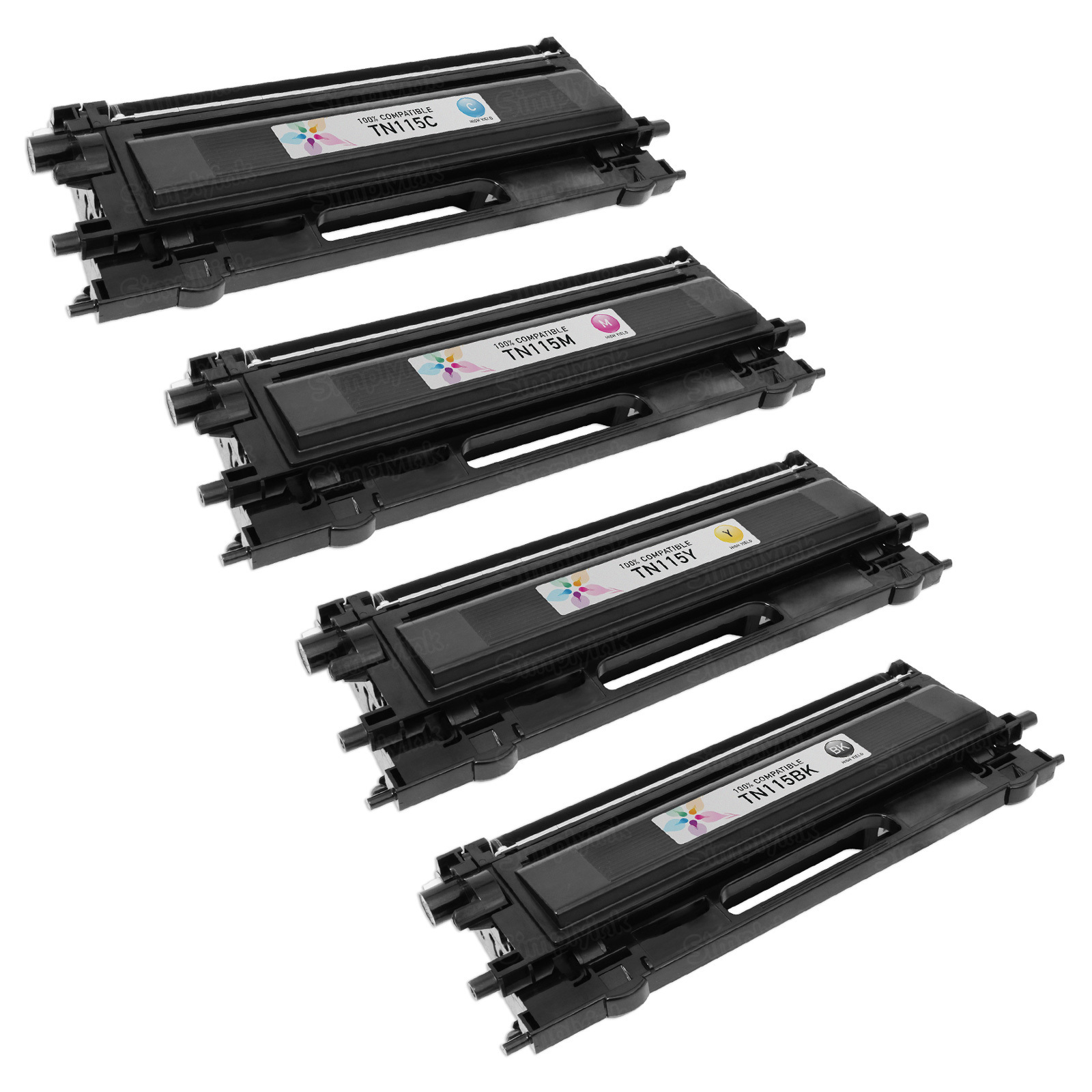 Remanufactured Brother TN115 HY Set Of 4 Laser Toners: Bk, C, M & Y