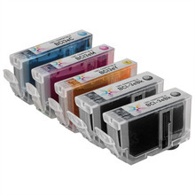 Inkjet Supplies for Canon Printers - Compatible Bulk Set of 5 BCI3e Ink Cartridges (2 Black (BCI3eBk) and 1 each of: Cyan (BCI3eC), Magenta (BCI3eM) and Yellow (BCI3eY)